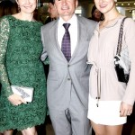 Left to right: Kelly Rutherford, Gary Flom, Svitilana Flom. Kelly Rutherford poses with Manhattan Jaguar CEO Gary Flom and his wife Svitilana Flom.