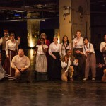 The company of actors in Peculiar Works Project's MANNA-HATA. Photo by Dan Lane Williams