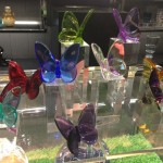 PAPILLON Lucky Butterfly  $105 in clear, moss green, parma violet, peony pink, purple, red, blue, amber and turquoise  $125 in blue scarabee and iridescent