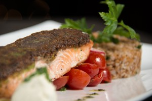 Falafel Crusted Wild Salmon