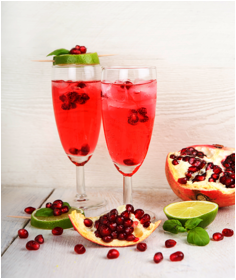 "Pomegranate Mint Spritz ""Salud"" (Courtesy of Altaneve )"