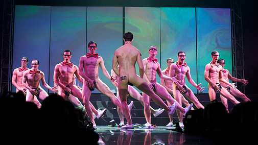 Performing in the Buff for Charity
