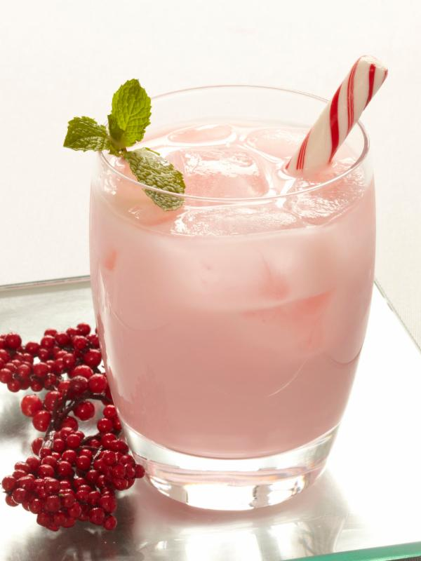 Hot Chocolate With Candy Cane Vodka