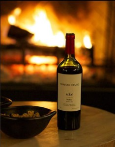 Forever Young Wine Image with Fireplace
