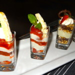 Strawberry Rhubarb Tapioca Pudding & Triple Chocolate Pretzel Parfait
