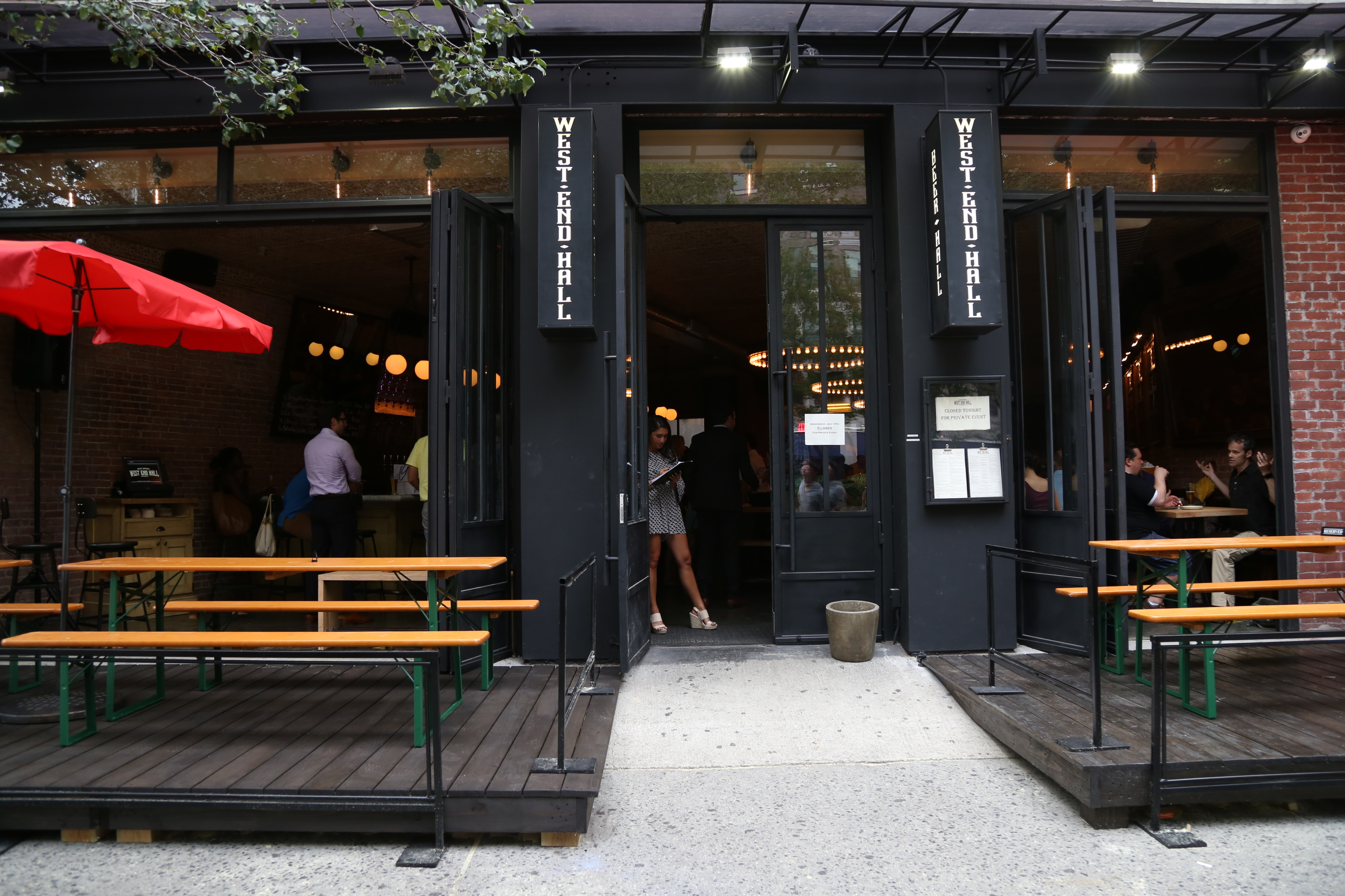 West End Hall Brings A Beer Garden To Uws Manhattan With A Twist
