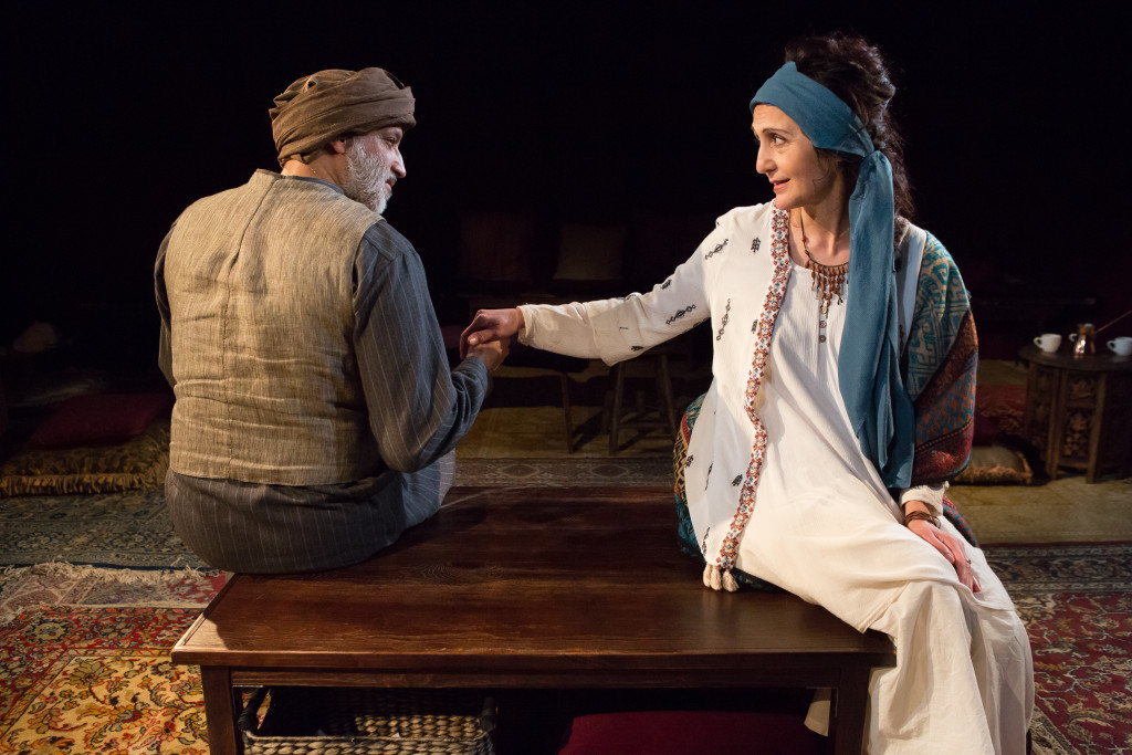 L to R – Alok Tewari (as Abu), Jacqueline Antaramian (as Umm)